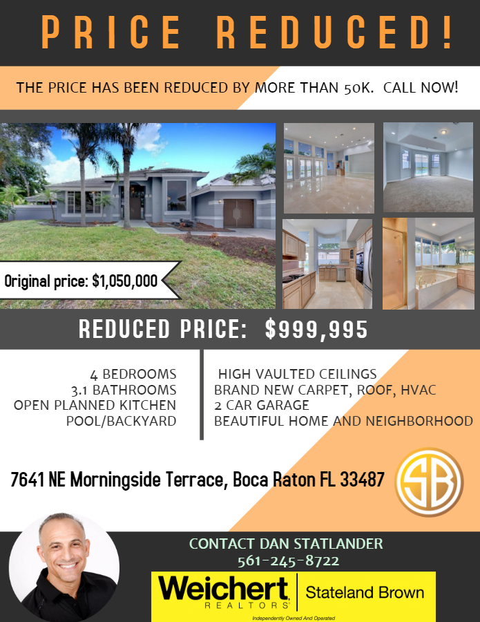 Recently Reduced and Renovated Home for Sale in Boca Raton