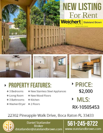 For Rent in Boca Raton
