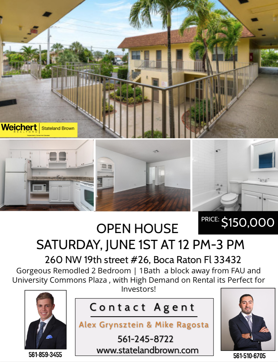 Open House in Boca Raton on Saturday, June 1st