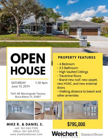Open House in West Boca (Morningside) on Saturday, June 15th